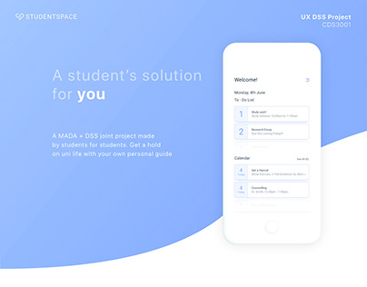 STUDENTSPACE - mobile app design