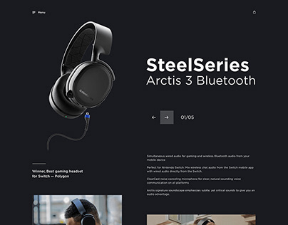 Promo concept for SteelSeries headset