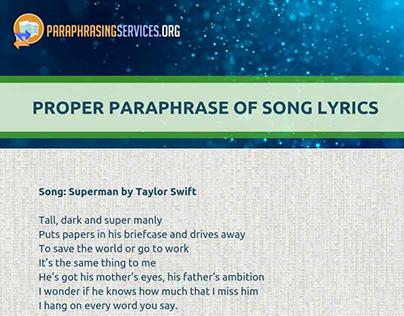 Paraphrasing Service On Behance Proper And Improper