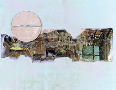 Transitional Collage, Acrylic Works on Canvas and Board