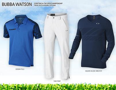 Oakley Golf, Bubba Watson's Scripting for the 2016 Open