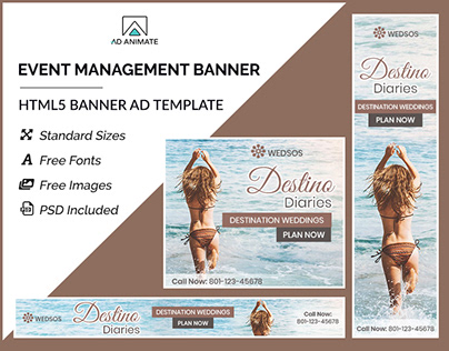 Event Management Banner - HTML5 Ad Templates