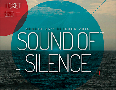Sound of Silence Flyer Template