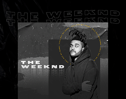The Weeknd - design social media