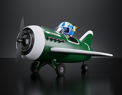 Airplane Cartoon | 3D Modeling