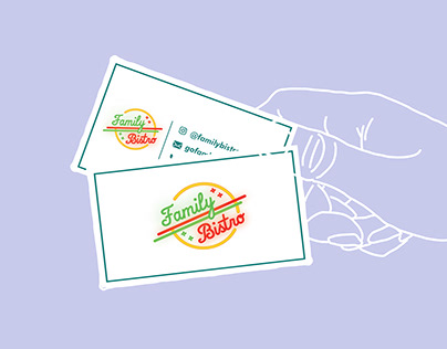 Name Card for Family Bistro