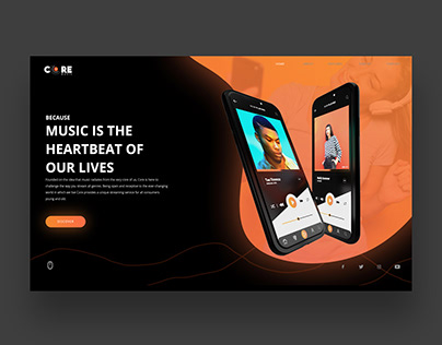 Core Press Play Website/App Ui/Ux Design