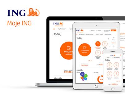 Moje ING – online banking system
