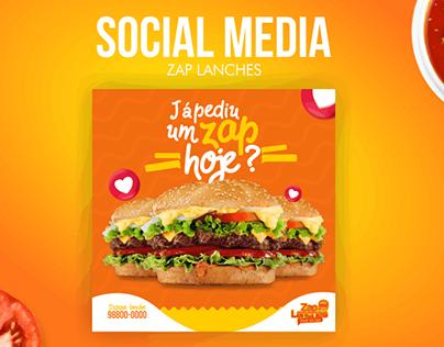 Social Media - Zap Lanches