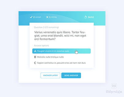 Day 292: Driving Questionnaire UI Design