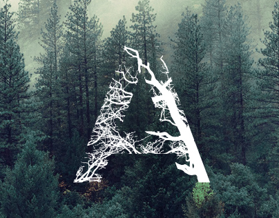 Forest typography