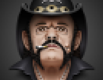 Pixelated Lemmy the God