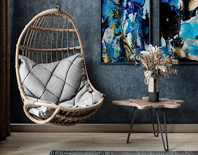 Living room interior visualization