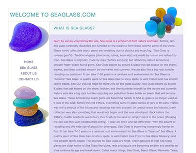 CSS3/HTML5 designed website: Seaglass.com