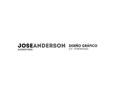 CV y Portafolio - Jóse Anderson