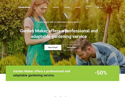 Horticulture WordPress Landing Page