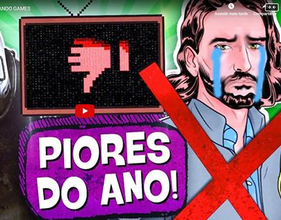 5 PIORES JOGOS de 2018! 💩 👎 - PIPOCANDO GAMES
