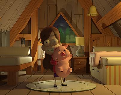 Mabel & Waddles - Gravity Falls