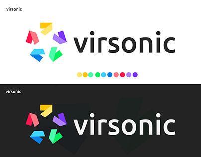 virsonic, abstract logomark