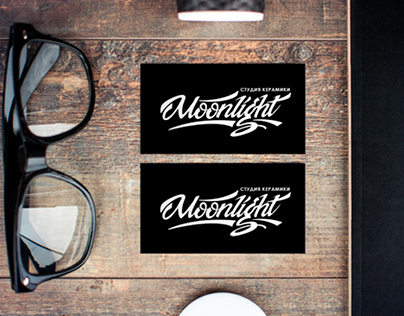 "Logo for Russian pottery studio ""Moonlight"""