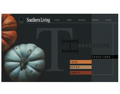 DailyUI #001  Landing page- SL Thanksgiving