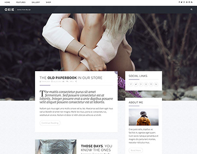 Oxie Personal Wordpress Blog