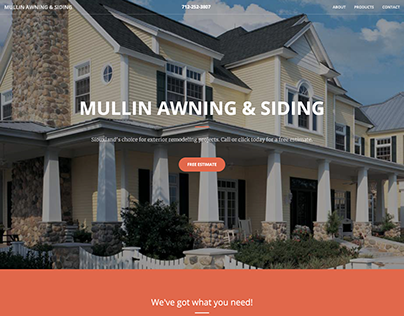 Mullin Awning & Siding Website