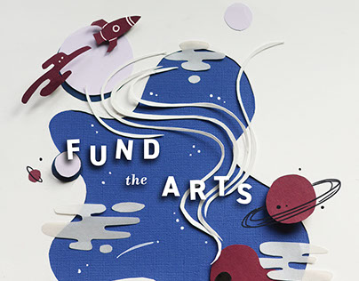 AIGA Fund the Arts Poster