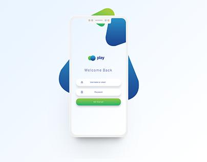 Free Flat Mobile App Login UI PSD - Free PSD