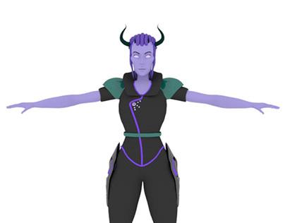 3D character design, uni