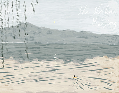 swimming man 游泳的男人 / illustration 插畫