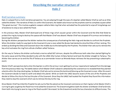 Break down of a narrative structure