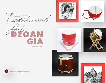 Vietnamese Traditional Drums - Responsive Web Design
