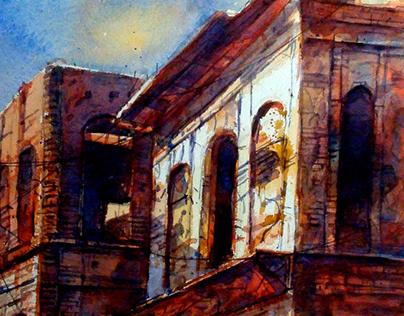 Panam Nagar, Painting of Artist Sadek Ahmed