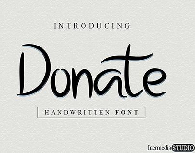 Donate Font | Elegant Handmade Font