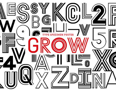 Type Specimen Poster - GROW