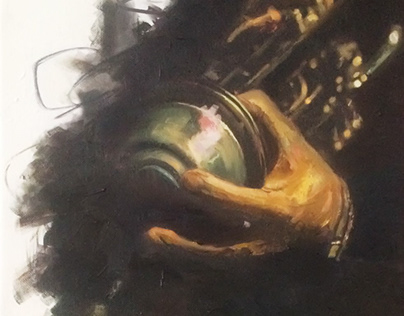 Acrylic on canvas - Trumpet player