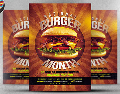 Burger Month Flyer Template V2