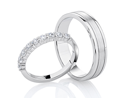 Engagement and wedding rings photography and retouch