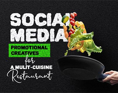 Social Media - Promotional Creatives For A Restaurant