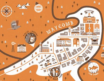 Maycomb Town Map
