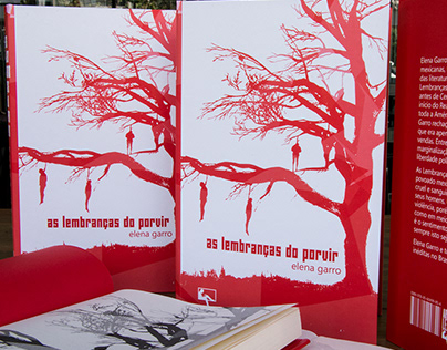 """As lembranças do porvir"" book cover and book design."