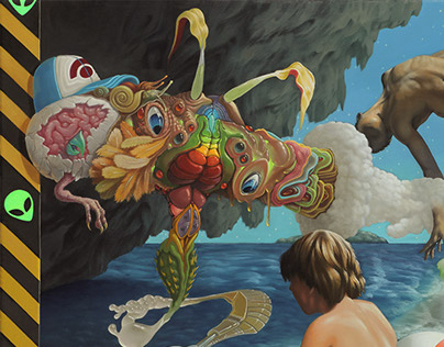 """Fuku-Shiva"", Oil on Canvas, 20"" x 24"", 2014"
