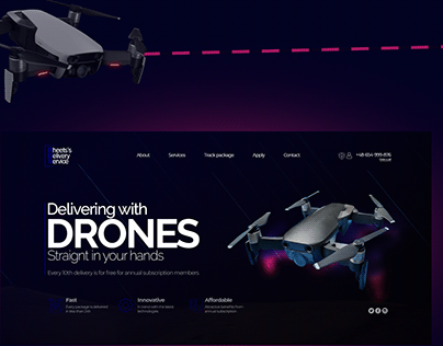 First Page - Delivering with Drones