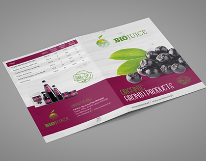Folder Design&Layout for Aronia Products