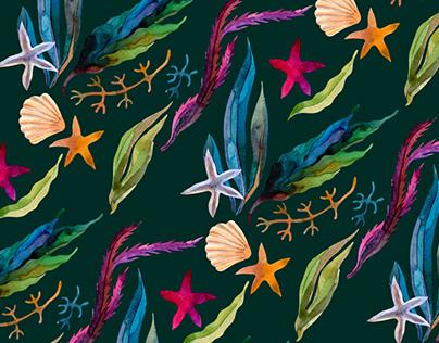 My Sea. Textile Design.