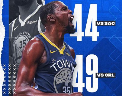 Kevin Durant   Back to back 40-point games   NBA