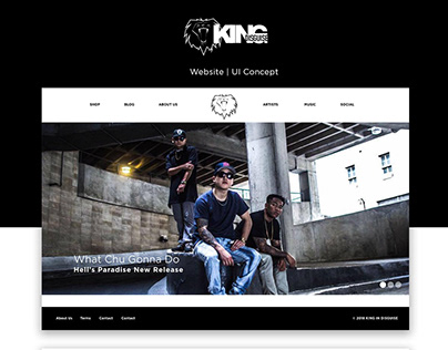 King In Disguise Web/UI Design Concept