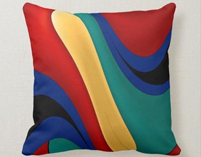 Abstract Digital Art Throw Pillows