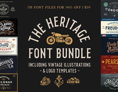 THE HERITAGE FONT BUNDLE - 94% OFF